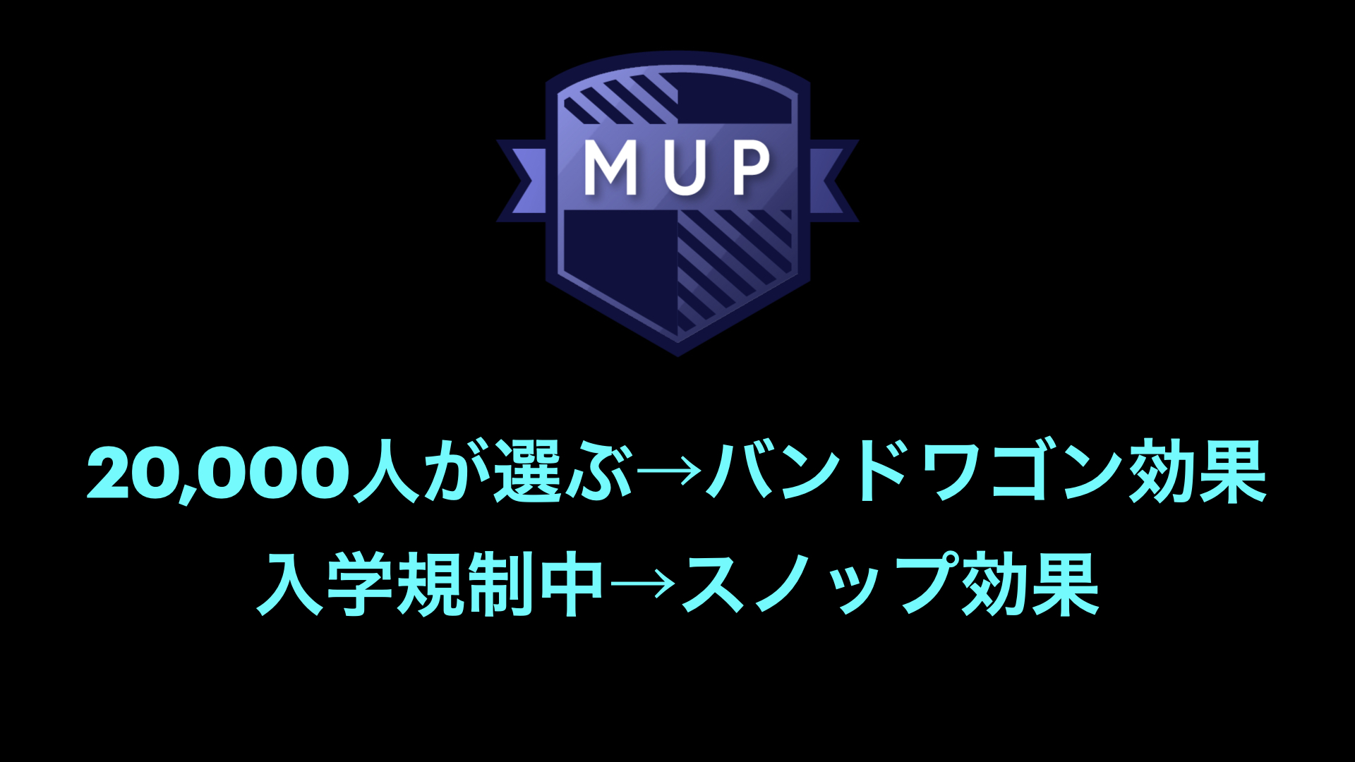 MUPのPR